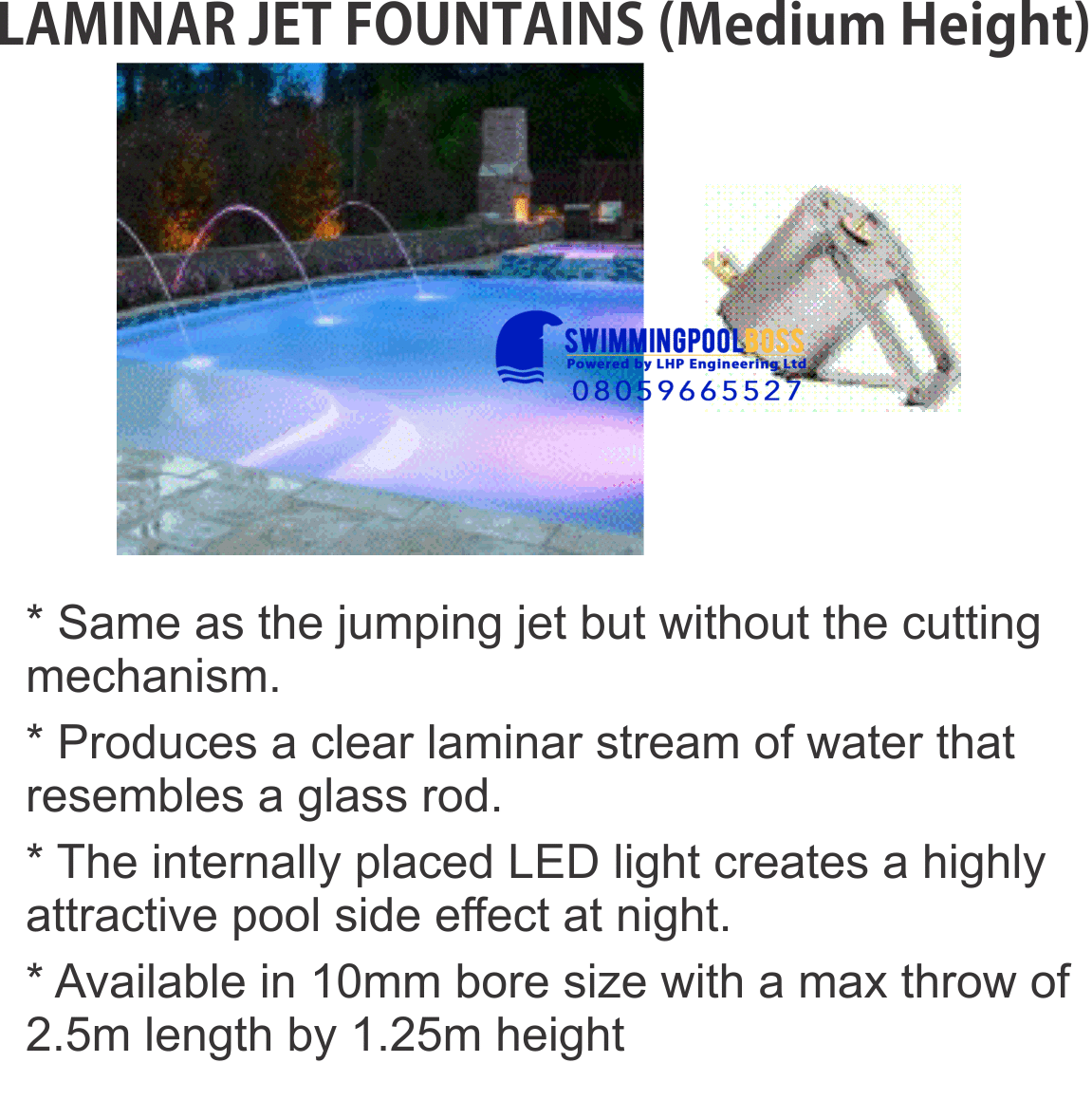 PROGRAMMABLE DANCING JET FOUNTAINS