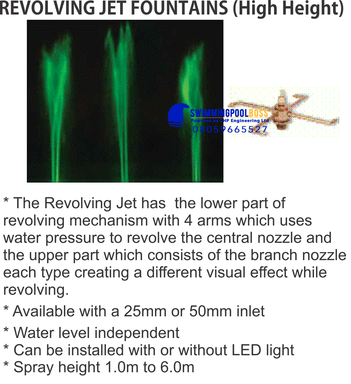 REVOLVING JET FOUNTAINS