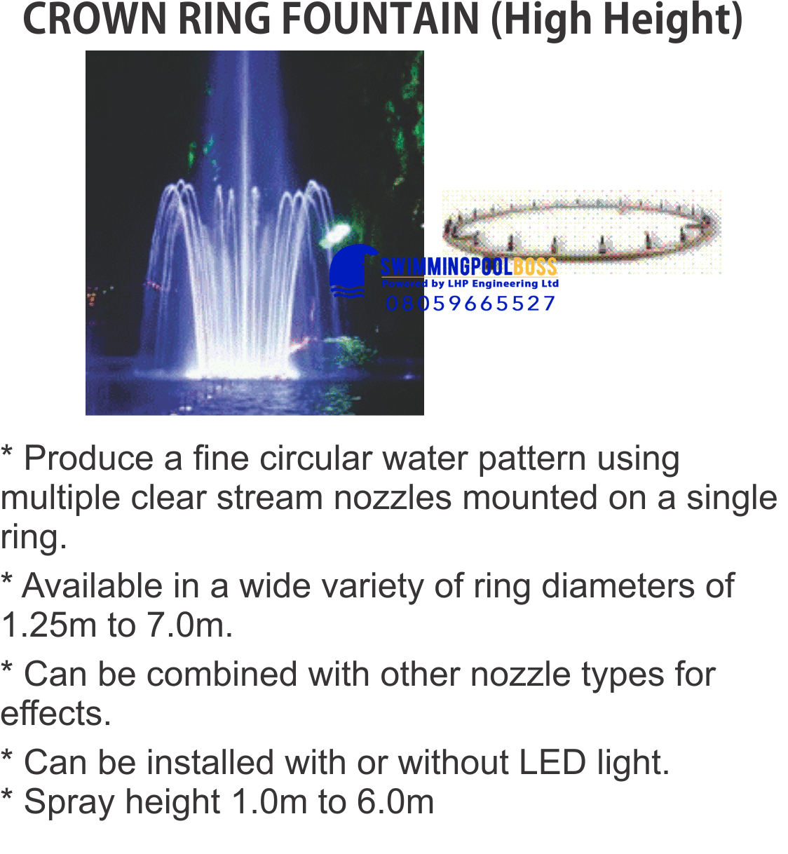 CROWN RING JET FOUNTAINS